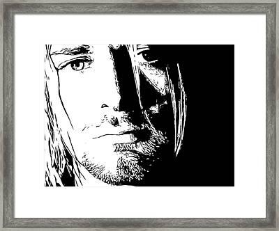 Kurt Cobain Melancholy Framed Print