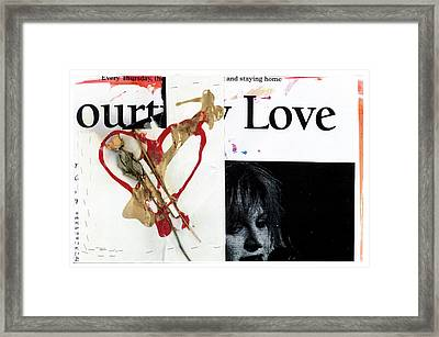 Kurt Cobain Memorial Framed Print
