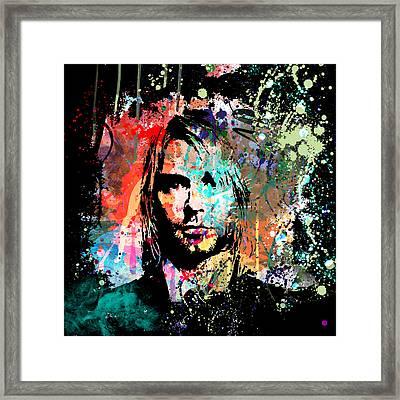 Kurt Cobain Portrait Framed Print