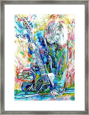 Kurt Cobain Portrait.1 Framed Print