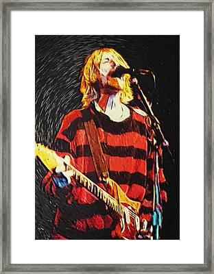 Kurt Cobain Framed Print by Taylan Apukovska