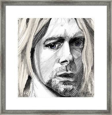 Framed Print featuring the drawing Kurt by Michele Engling