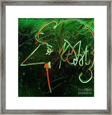Kurt Vonnegut Framed Print by Michael Kulick