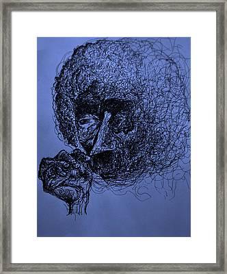 Kurt Vonnegut Framed Print by Will  Carlson