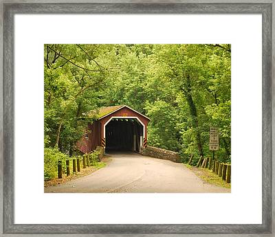 Framed Print featuring the photograph Kurtz Bridge In July by Bob Sample