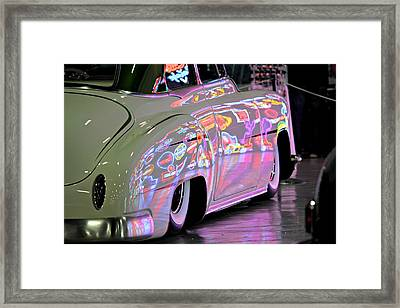 Kustom Neon Reflections Framed Print