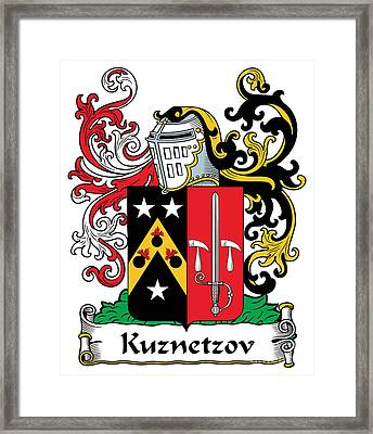 Kuznetsov Coat Of Arms Russian Framed Print