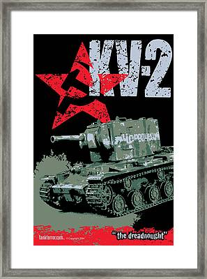 Kv-2 Russian Tank Framed Print by Philip Arena