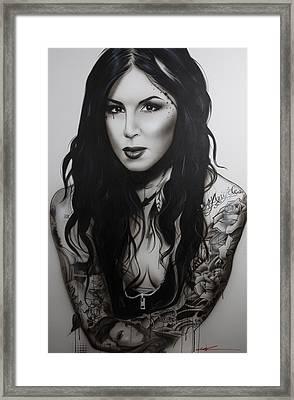Kat Von D - ' K. V. D. II ' Framed Print