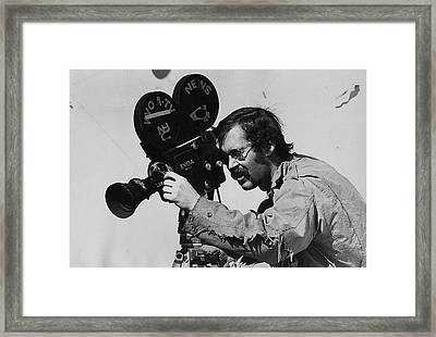 Kvoa Tv News Cameraman Frank Sharkey Fiddler's Contest Armory Park Tucson Arizona 1971 Framed Print by David Lee Guss