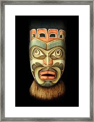 Kwakiutl Free Spirit Mask Framed Print by Cynthia Adams