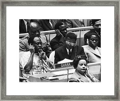 Kwame Nkrumah Framed Print by Granger