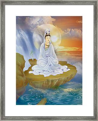 Framed Print featuring the photograph Kwan Yin - Goddess Of Compassion by Lanjee Chee