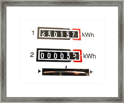 kWh counter Framed Print