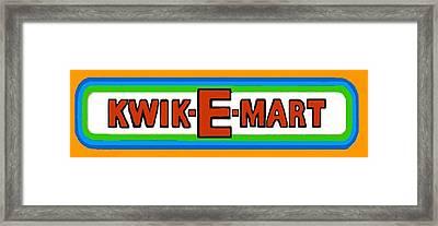 Kwik-e-mart Sign Framed Print by Paul Van Scott