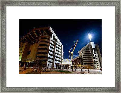 Kyle Field Construction Framed Print by Linda Unger