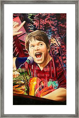 Framed Print featuring the painting Kyle Hollingsworth At Hornin'gs Hideout by Joshua Morton