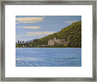 Kylemore Abbey Connemara Co Galway Framed Print by Diana Shephard
