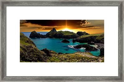 Kynance Cove Cornwall Framed Print by Martin Newman