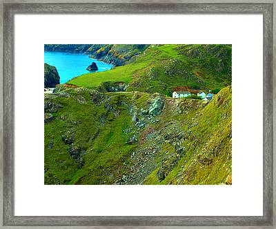 Framed Print featuring the photograph Kynance Cove by Rachel Mirror