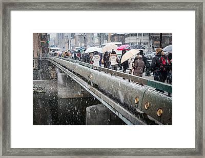 Kyoto Bridge Framed Print