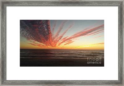 Kyra's Sunset Framed Print