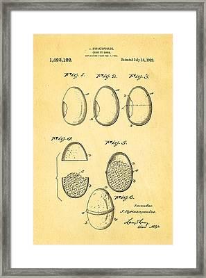 Kyriazopoulos Confetti Bomb Patent Art 1922 Framed Print