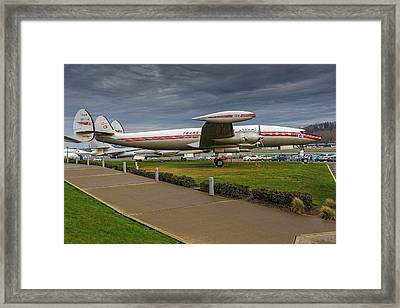 L-1049 Constellation Super G Framed Print by Thomas Hall