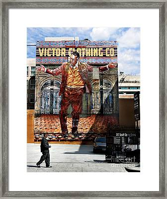 Framed Print featuring the photograph L A  City Beat by Jennie Breeze