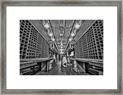L And N Rr 1100 Bw Framed Print by Susan Candelario