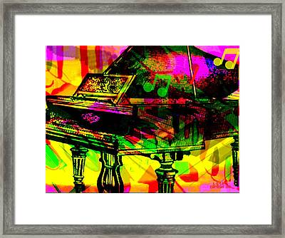 Mood Changing Medicine Power Of Music Framed Print