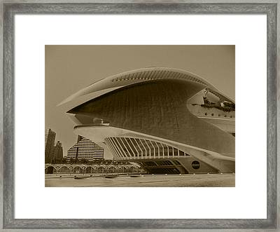 L' Hemisferic - Valencia Framed Print by Juergen Weiss