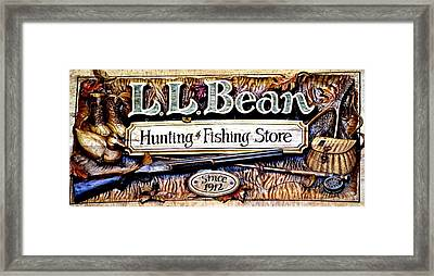 L. L. Bean Hunting And Fishing Store Since 1912 Framed Print by Tara Potts