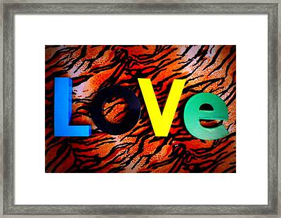 L O V E Framed Print by The Creative Minds Art and Photography