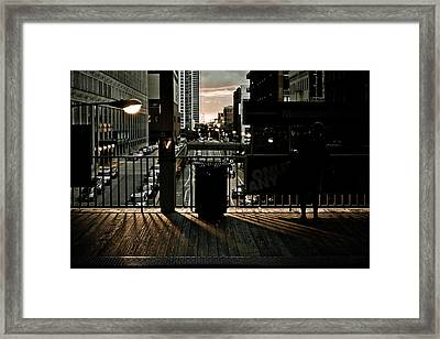 L Platform At Dusk Framed Print