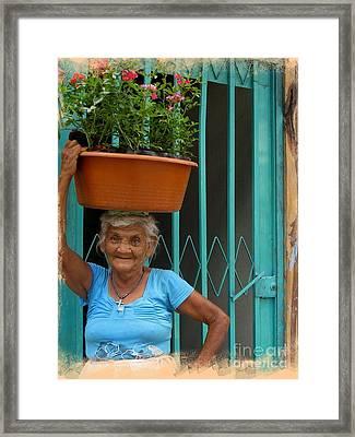 La Abuelita Framed Print by Stav Stavit Zagron