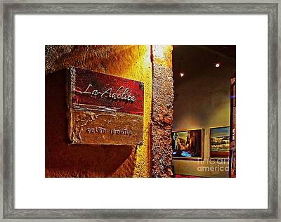 La Adelita Framed Print by John  Kolenberg
