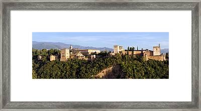 La Alhambra Panorama Framed Print by Francesco Riccardo  Iacomino