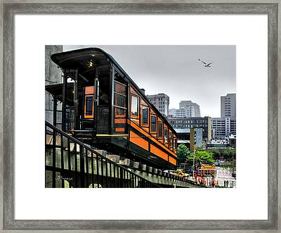 Los Angeles Angels Flight Framed Print by Jennie Breeze