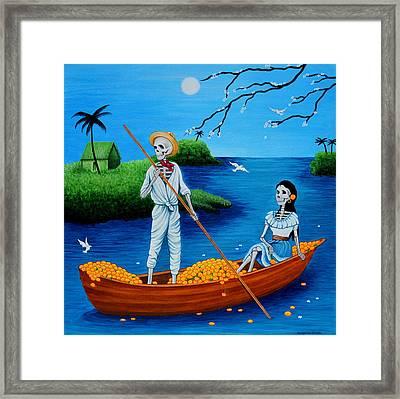 La Barca Framed Print by Evangelina Portillo