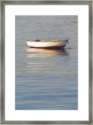 La Barque Au Crepuscule Framed Print