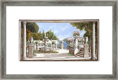 La Bella Fontana Framed Print by Guido Borelli
