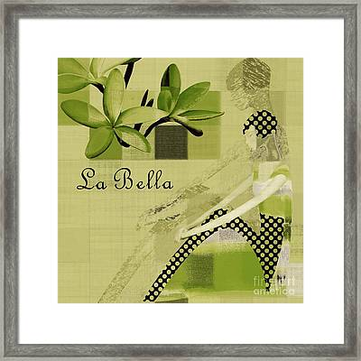 La Bella - Green 01-03 Framed Print by Variance Collections