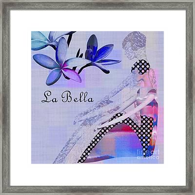 La Bella - J647152-04 Framed Print by Variance Collections