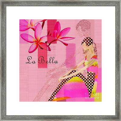 La Bella  - Pink - 055152176-02 Framed Print by Variance Collections