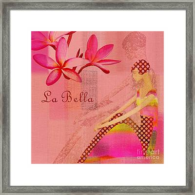 La Bella - Pink - 064152173-01 Framed Print by Variance Collections
