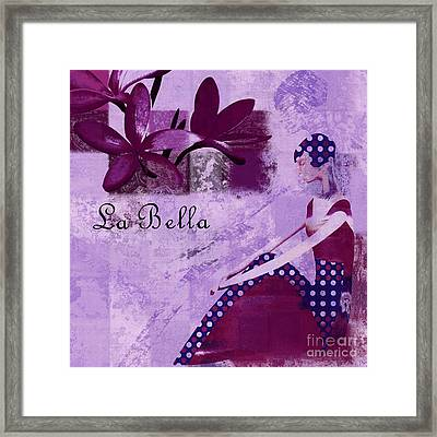 La Bella - Plum - 0640671052-01b Framed Print by Variance Collections