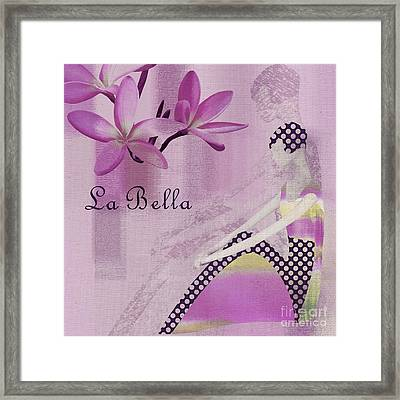 La Bella  - Purple - J104a Framed Print by Variance Collections