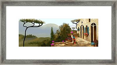 La Bella Terrazza Framed Print