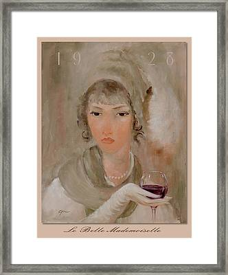 La Belle Mademoiselle Framed Print by Gini Heywood